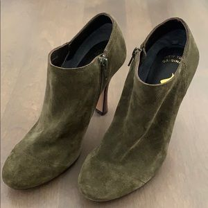 Stunning Nina Suede Shoes in Green